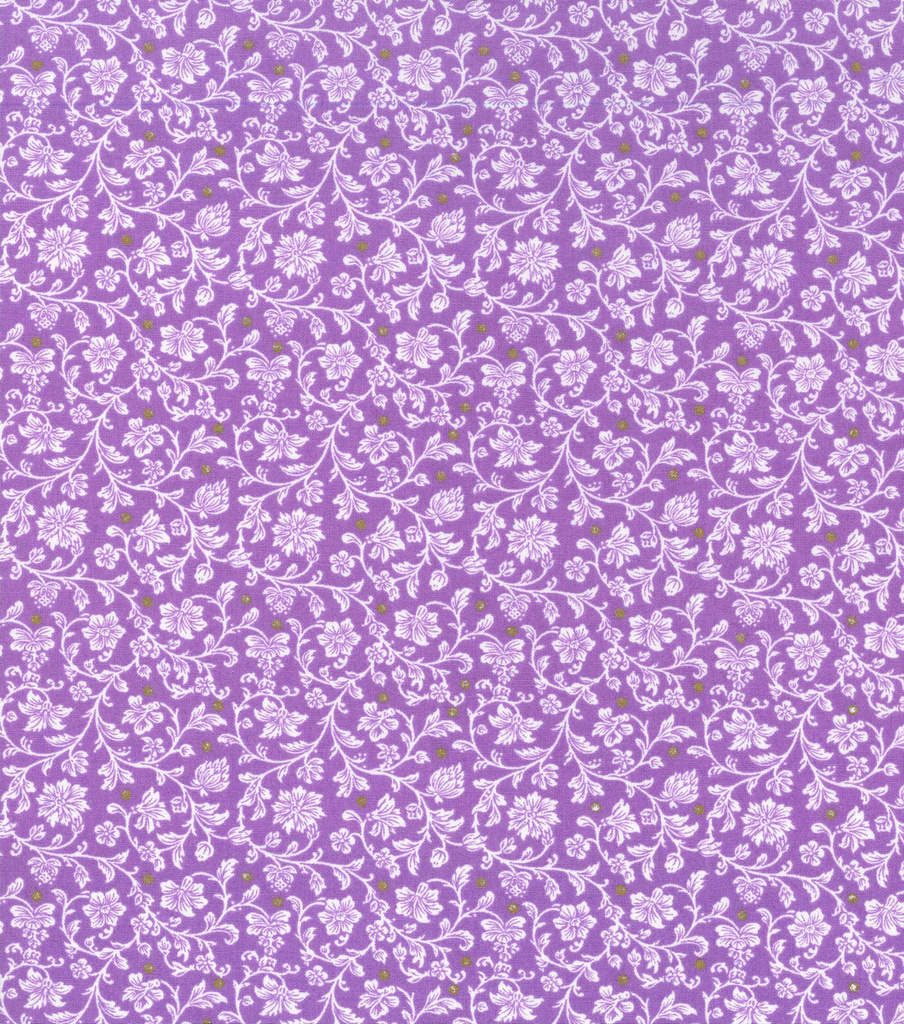 Keepsake Calico Cotton Fabric -Floral on Amethyst Orchid