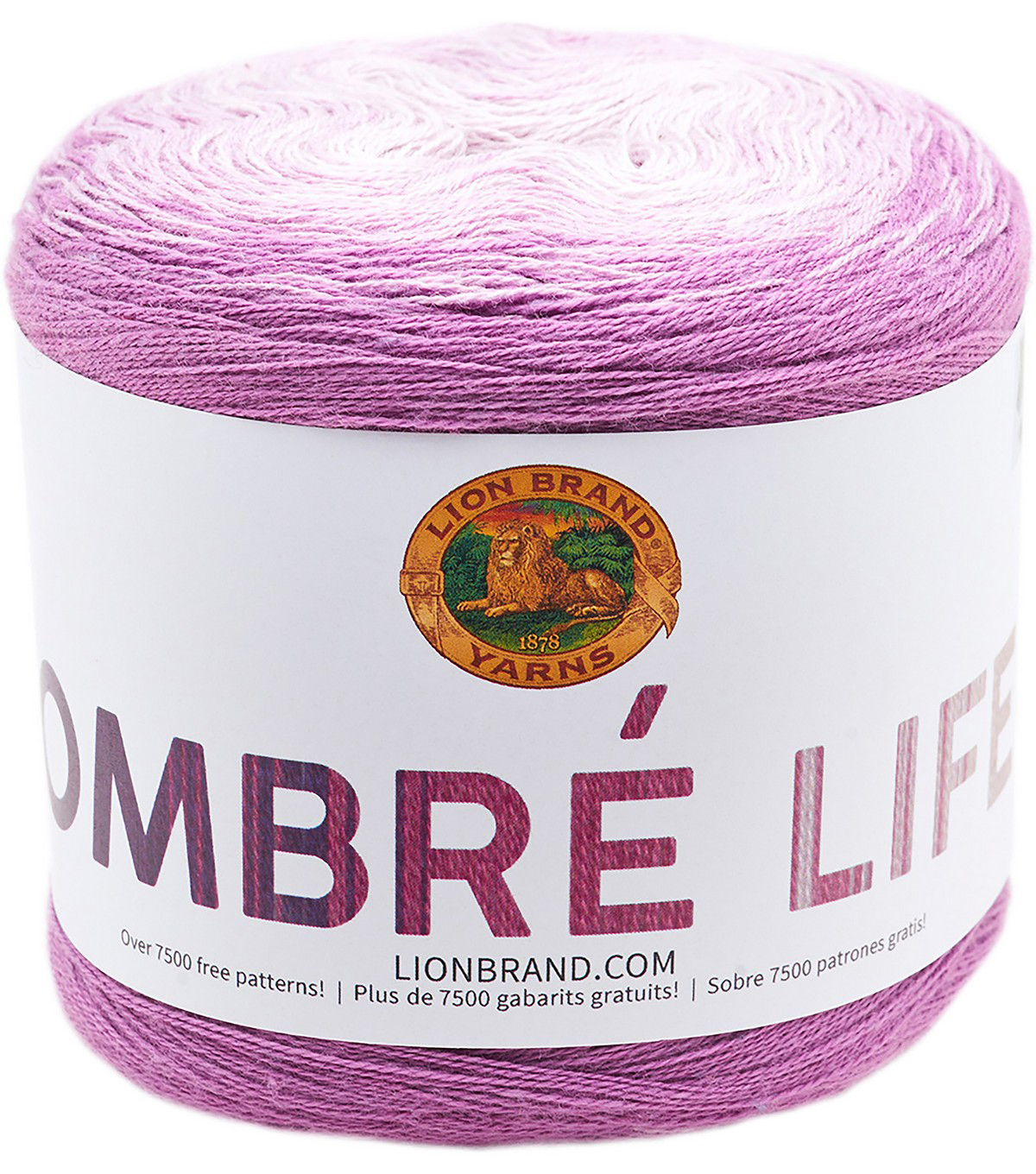 Lion Brand Ombre Life Yarn, Brunch