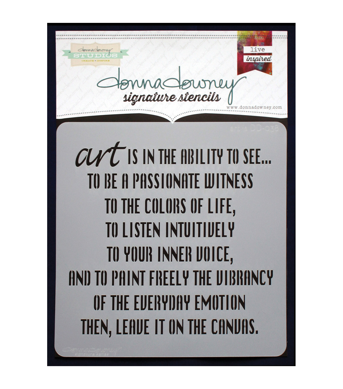 Donna Downey Signature 8.5\u0027\u0027x8.5\u0027\u0027 Stencil-Art is