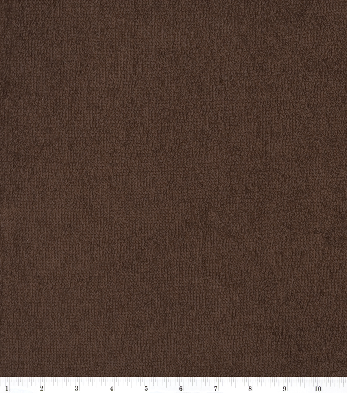 Cotton Terry Cloth Fabric-Solids, Brown