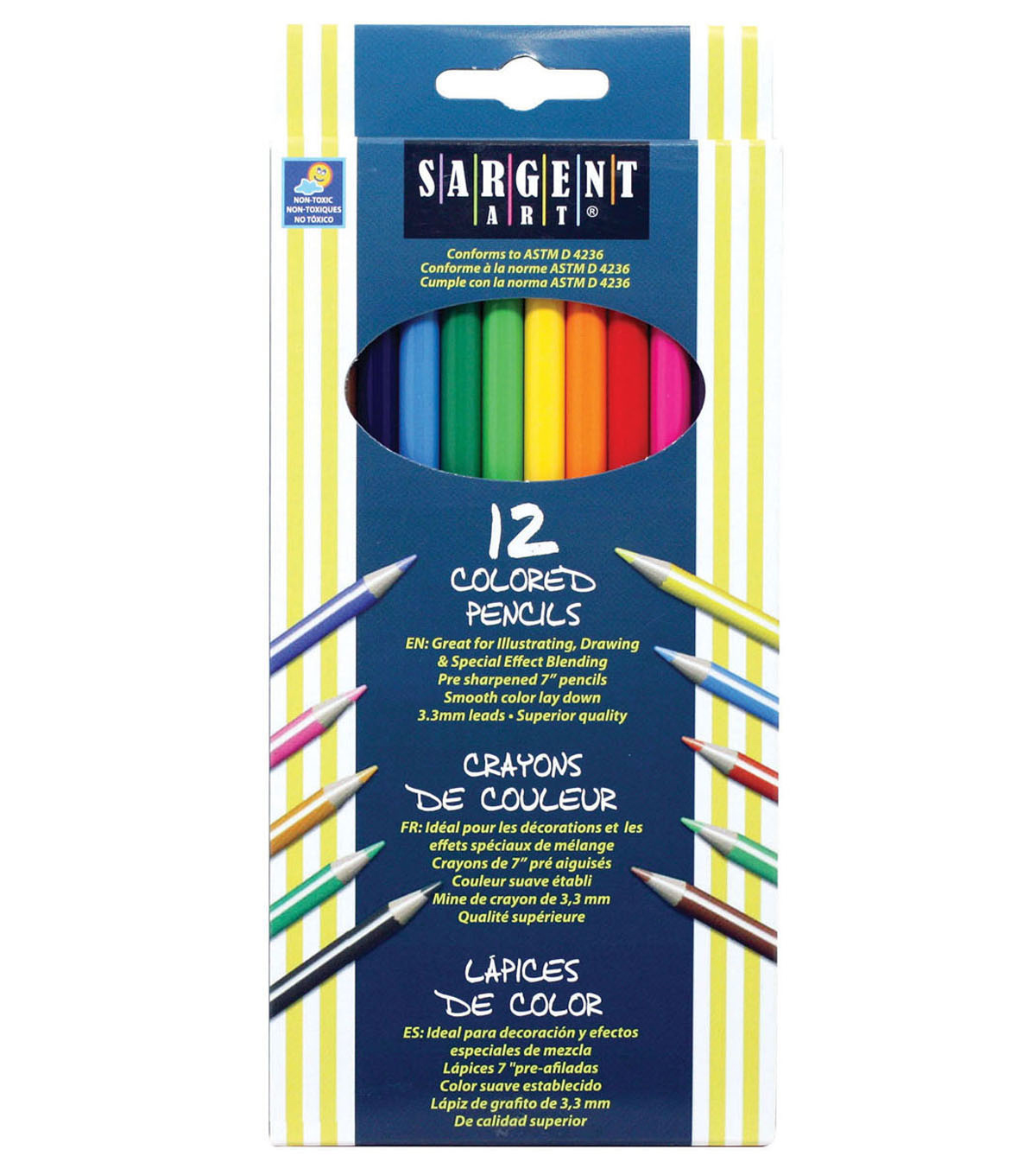 Sargent Art 144 pk 7\u0027\u0027 Colored Pencils