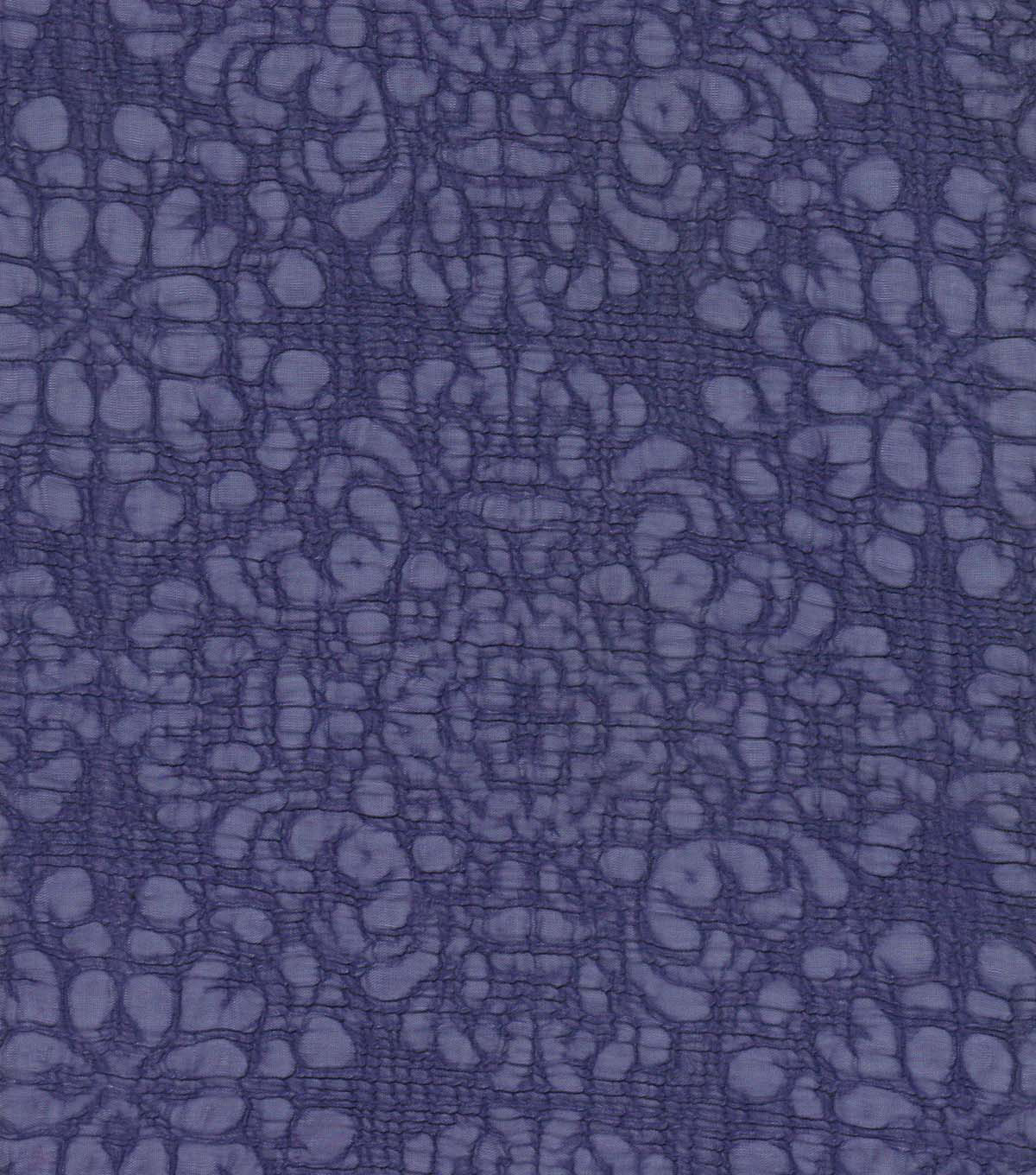 Silky Solids Fabric -  Floral Violet Poly