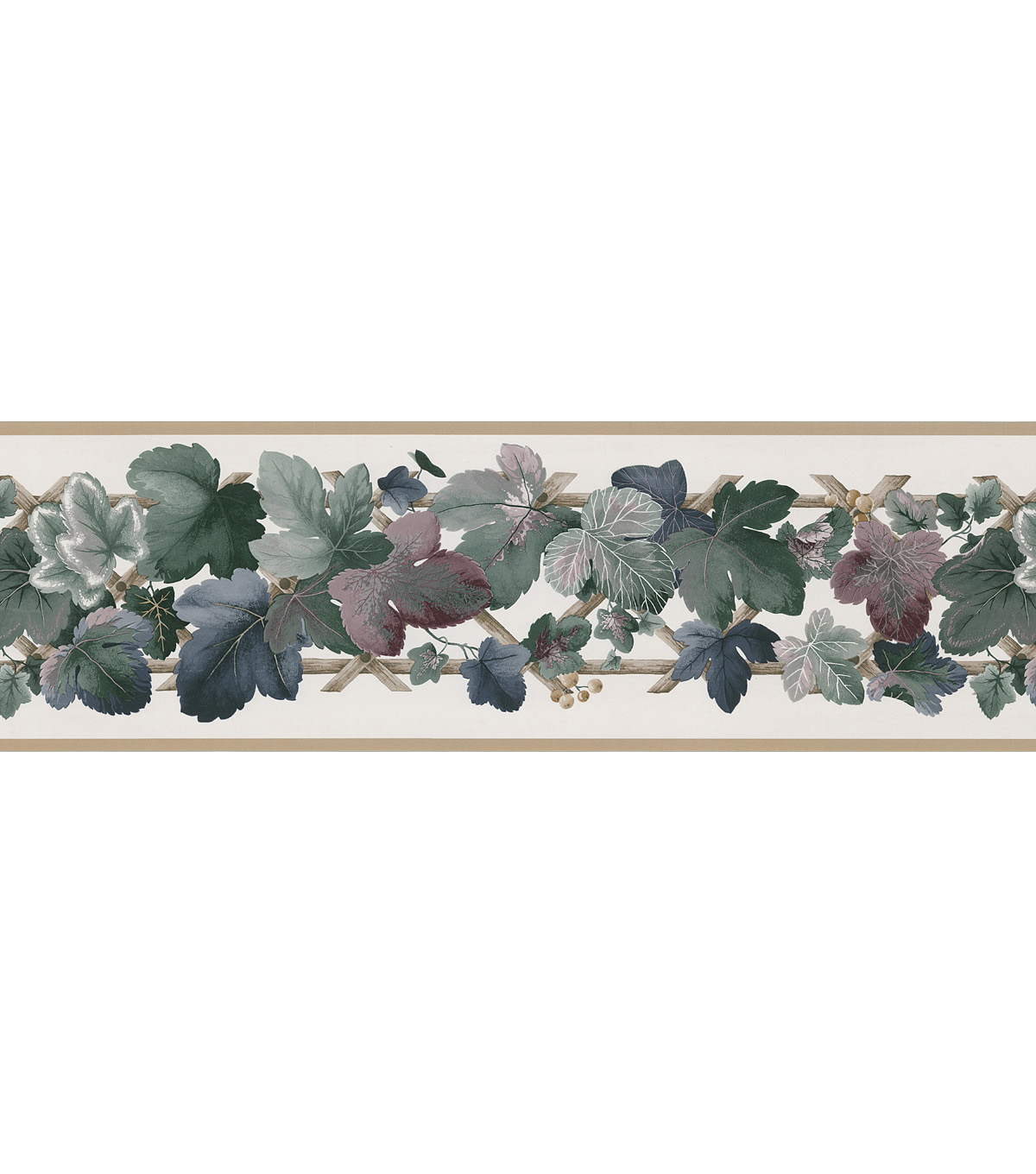 Ivy  Wallpaper Border, Green