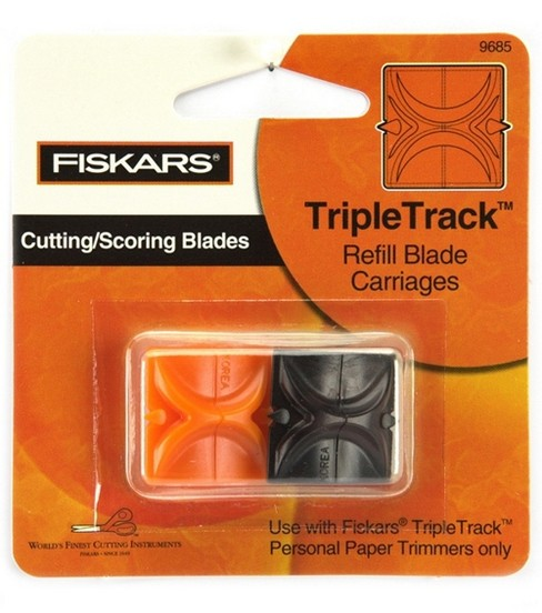 Fiskars Triple Track Trimmer Replacement Blades-2PK/Straight & Scoring