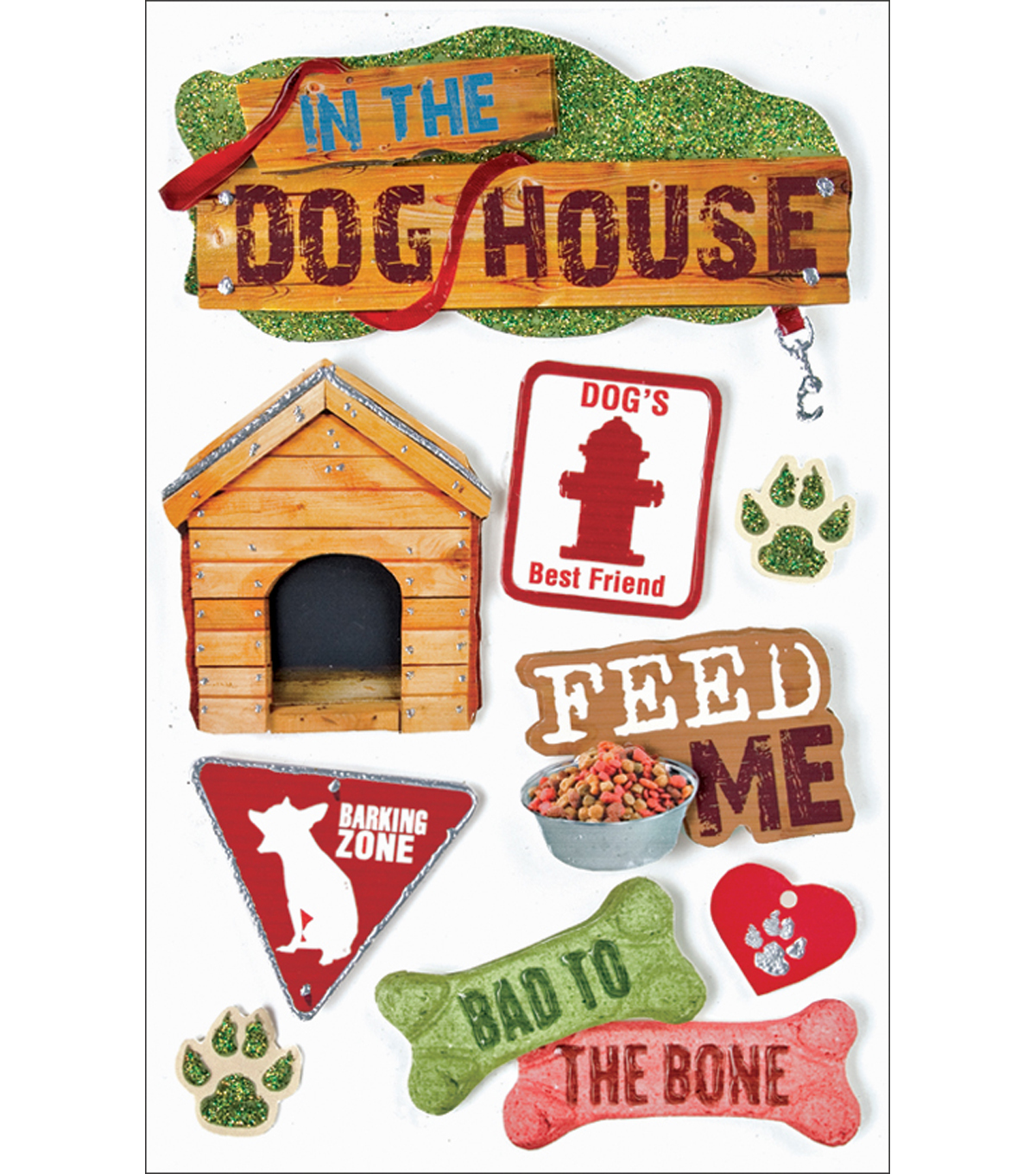 Paper House Pet 3-D Stickers-Dog