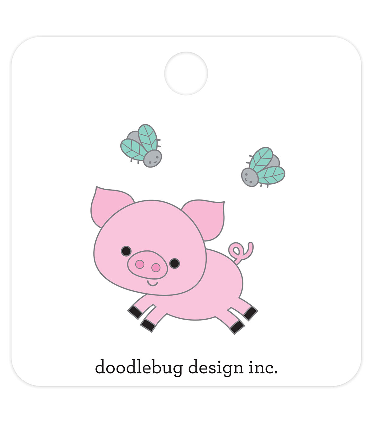 Doodlebug Design 3 pk Collectible Enamel Pins-Piggy