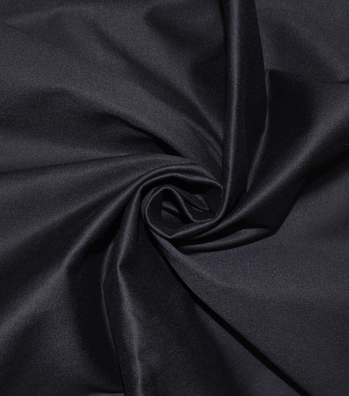 Bottomweights Stretch Twill Fabric -Black Solid