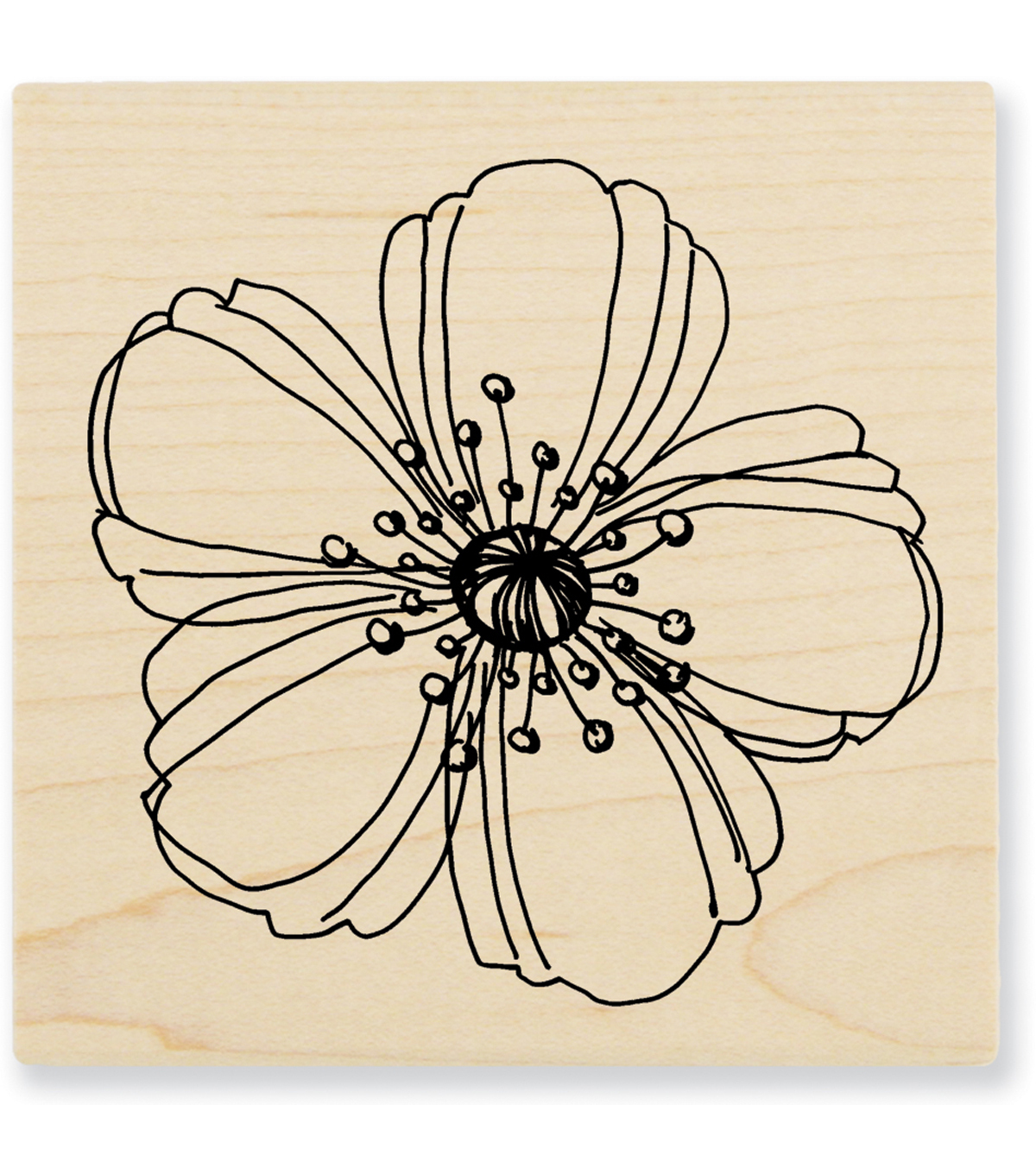 Stampendous Wood Stamp-Fresh Bloom