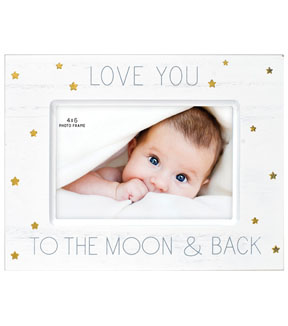 Wood Single Image Tabletop Frame 4x6 Love You To The Moon Back