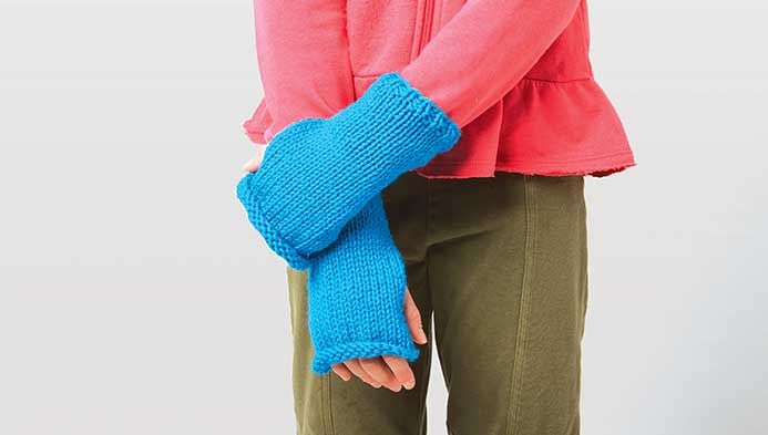 Kids Knit Wristers