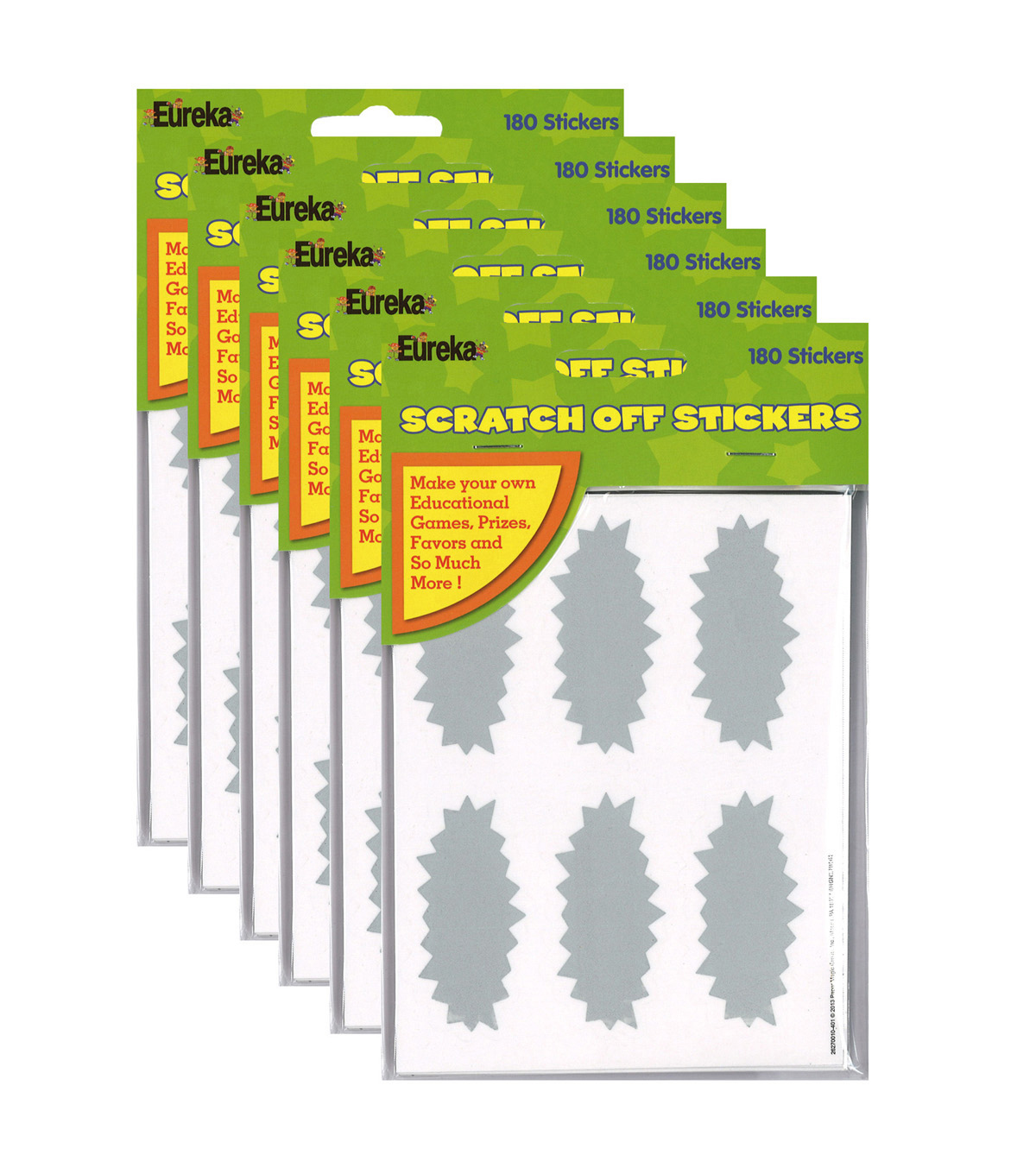 Star Bursts Scratch Off Stickers 16 Packs