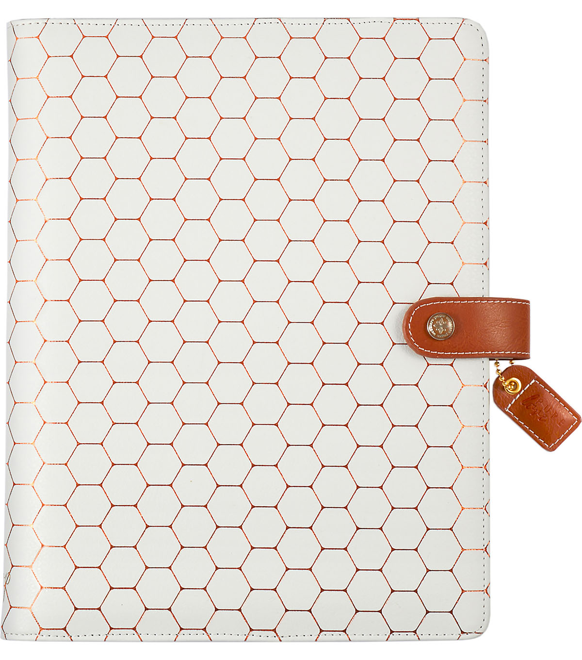 Webster\u0027s Pages Color Crush A5 Faux Leather Planner-Copper Hexagon