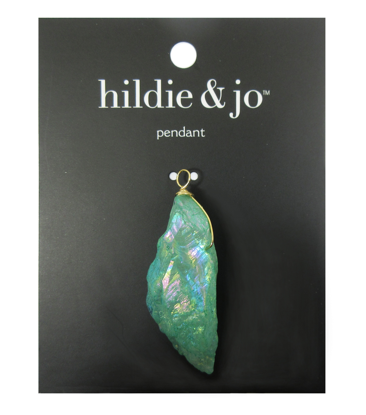 hildie & jo Effortless Charm Stone Pendant-AB Green