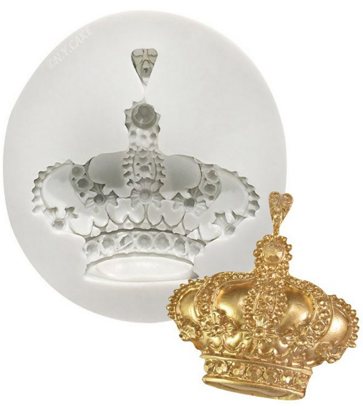 NY Cake White Silicone Mold-Royal Crown