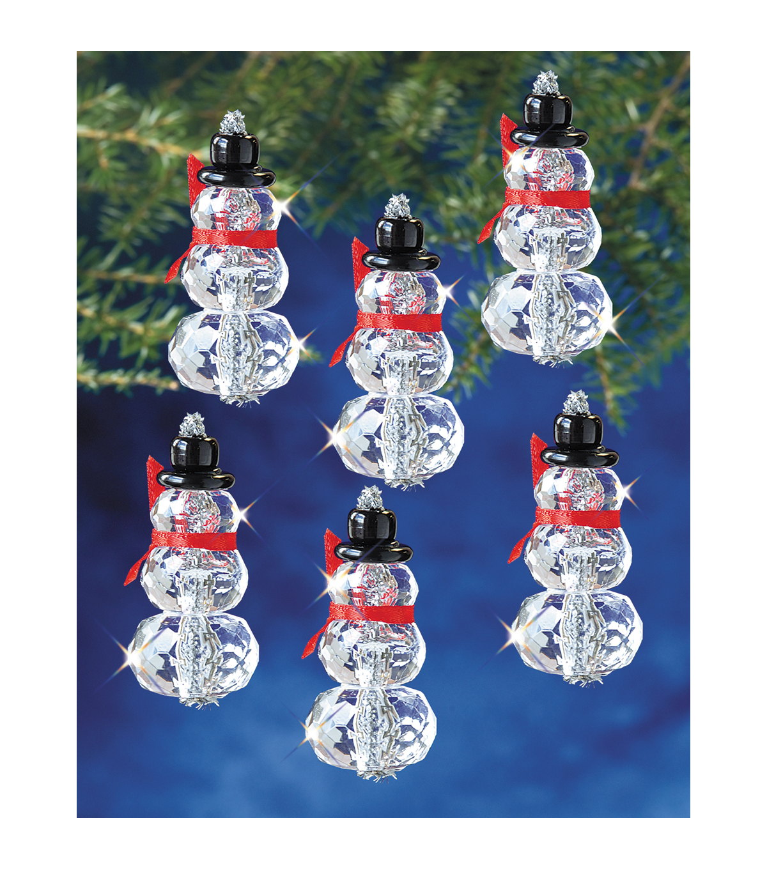 Holiday Beaded Ornament Kit Snow Crystals 3 1 2 Makes 6