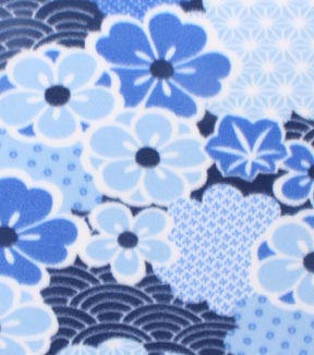 Blizzard Fleece Fabric 59\u0022-Daydream Floral With Geometrics