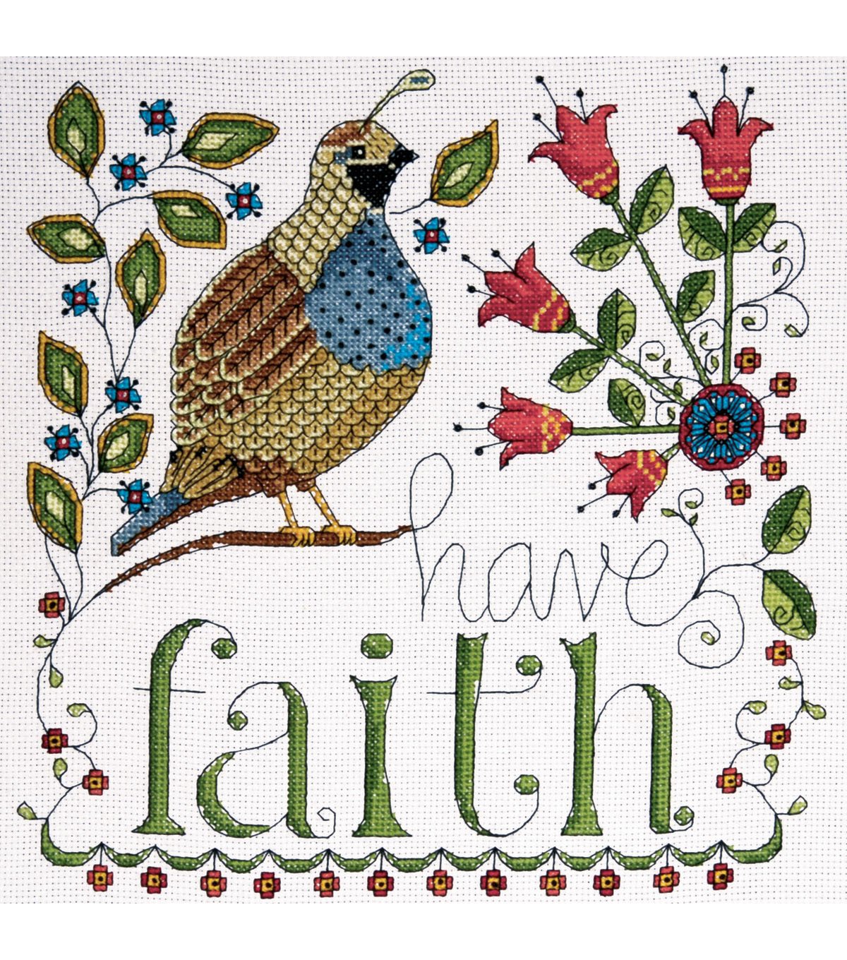 Design Works 10\u0027\u0027x10\u0027\u0027 Counted Cross Stitch Kit-Heartfelt Have Faith