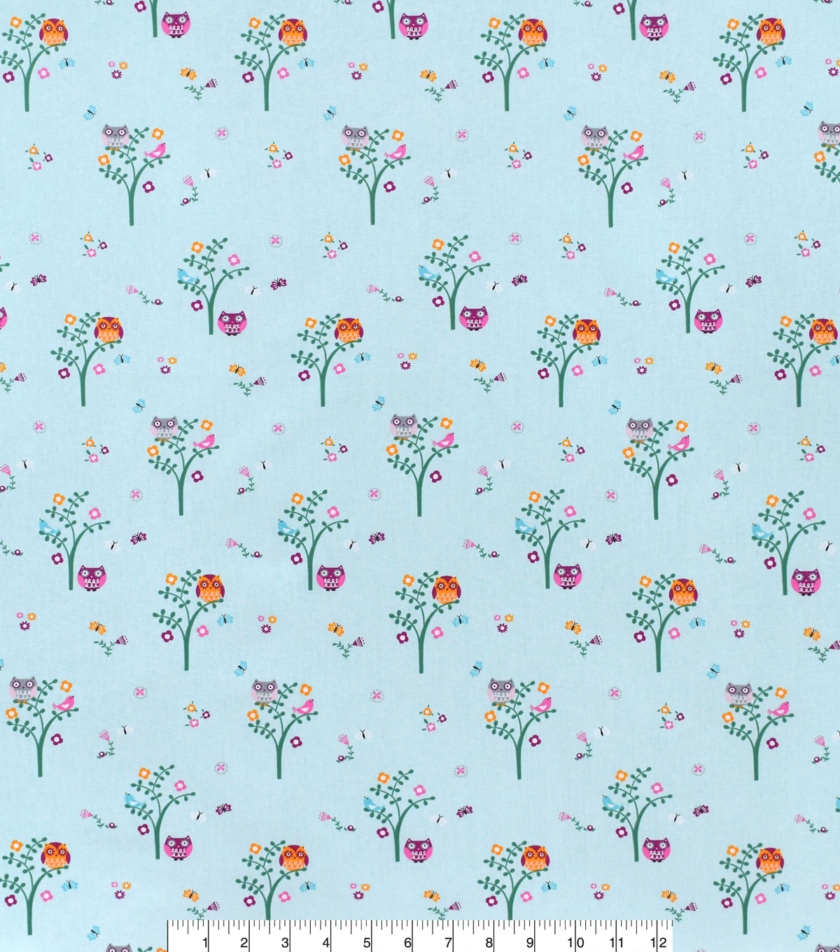 Nursery Cotton Fabric 43\u0022-Bright Owl