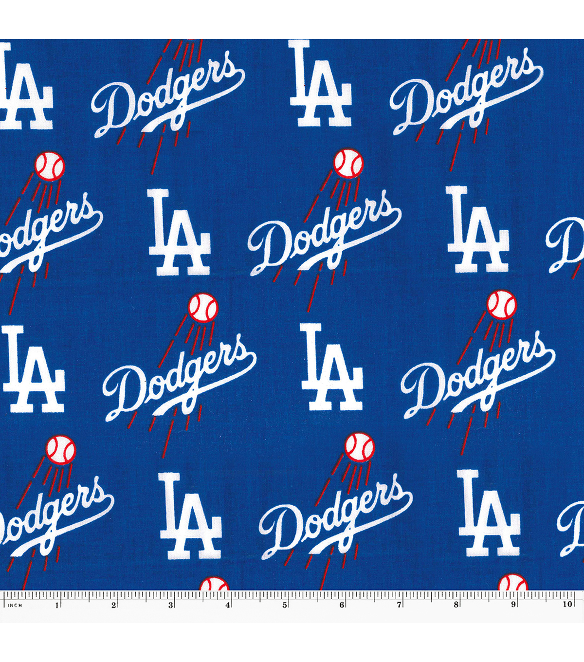 Los Angeles Dodgers Cotton Fabric -Mascot Logo