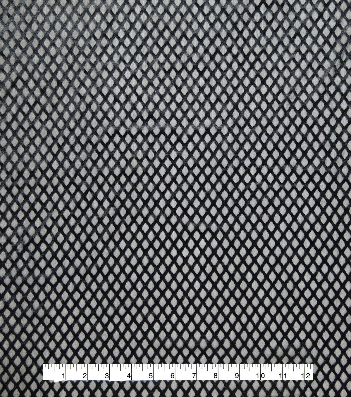 Burnout Velvet Fabric 57\u0022-Geo Black