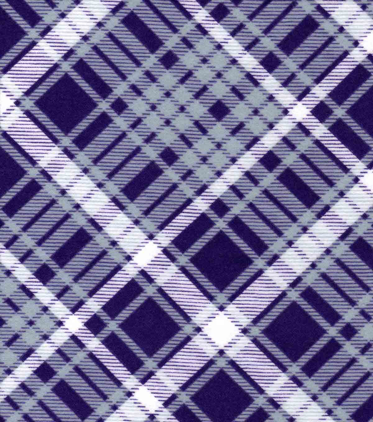Snuggle Flannel Fabric -Kate Purple & Gray Plaid