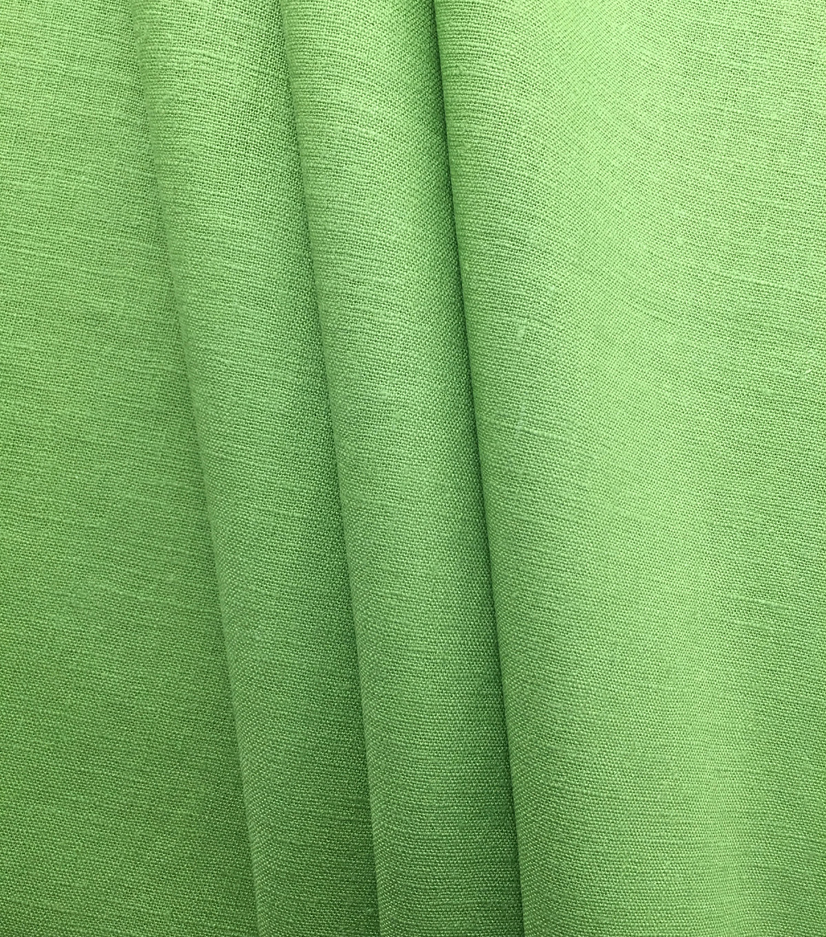 Apparel Linen Look Solid Fabric -Green