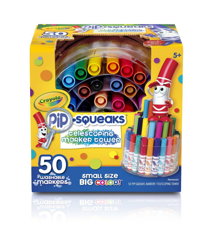 crayola telescoping pip squeaks washable marker tower joann