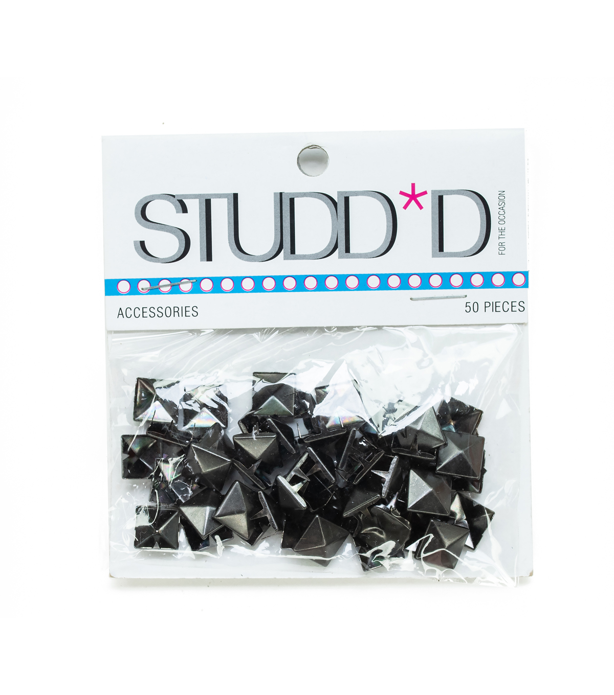 10mm Square Pyramid Matte Stud Pack, Gunmetal
