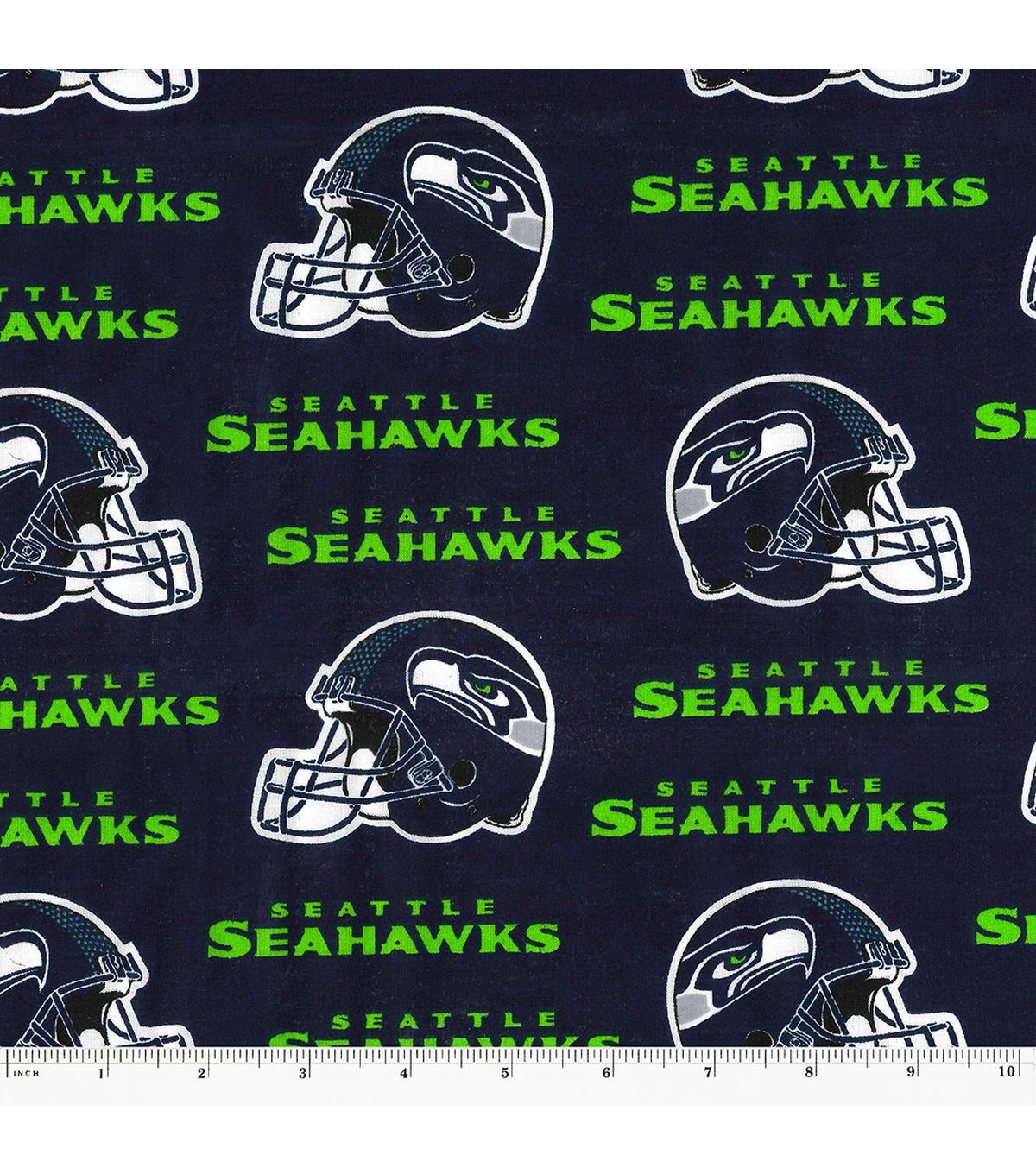 Seattle Seahawks Cotton Fabric Helmet Logo