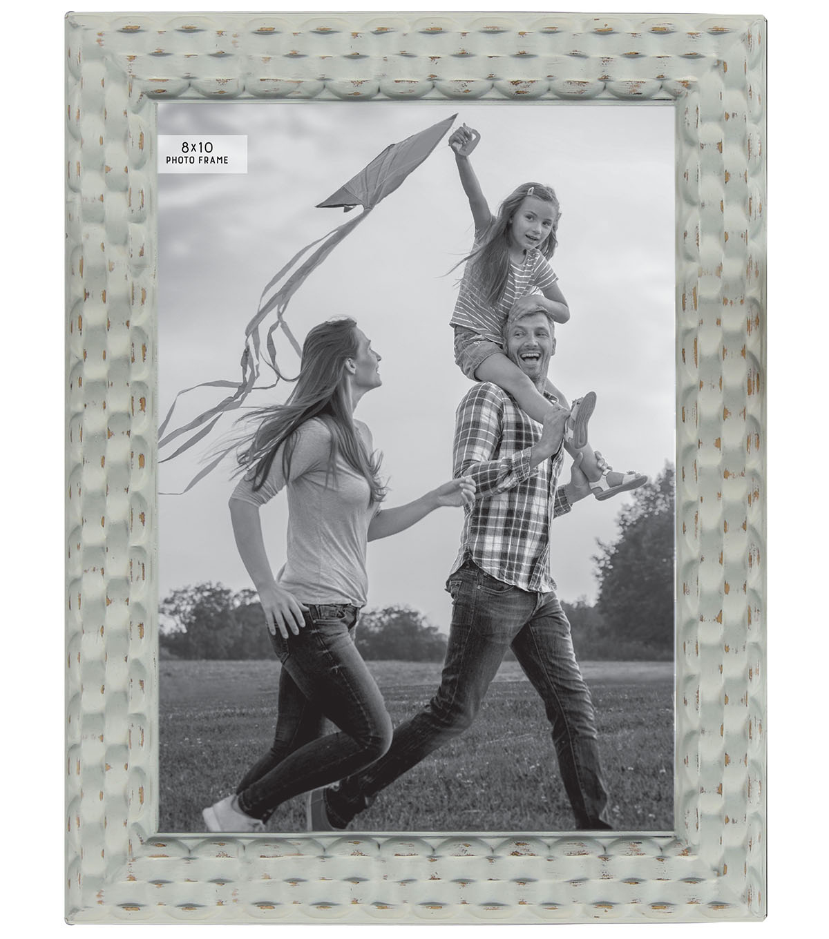 Photo Frame 8\u0027\u0027x10\u0027\u0027-Mint Distressed Basketweave