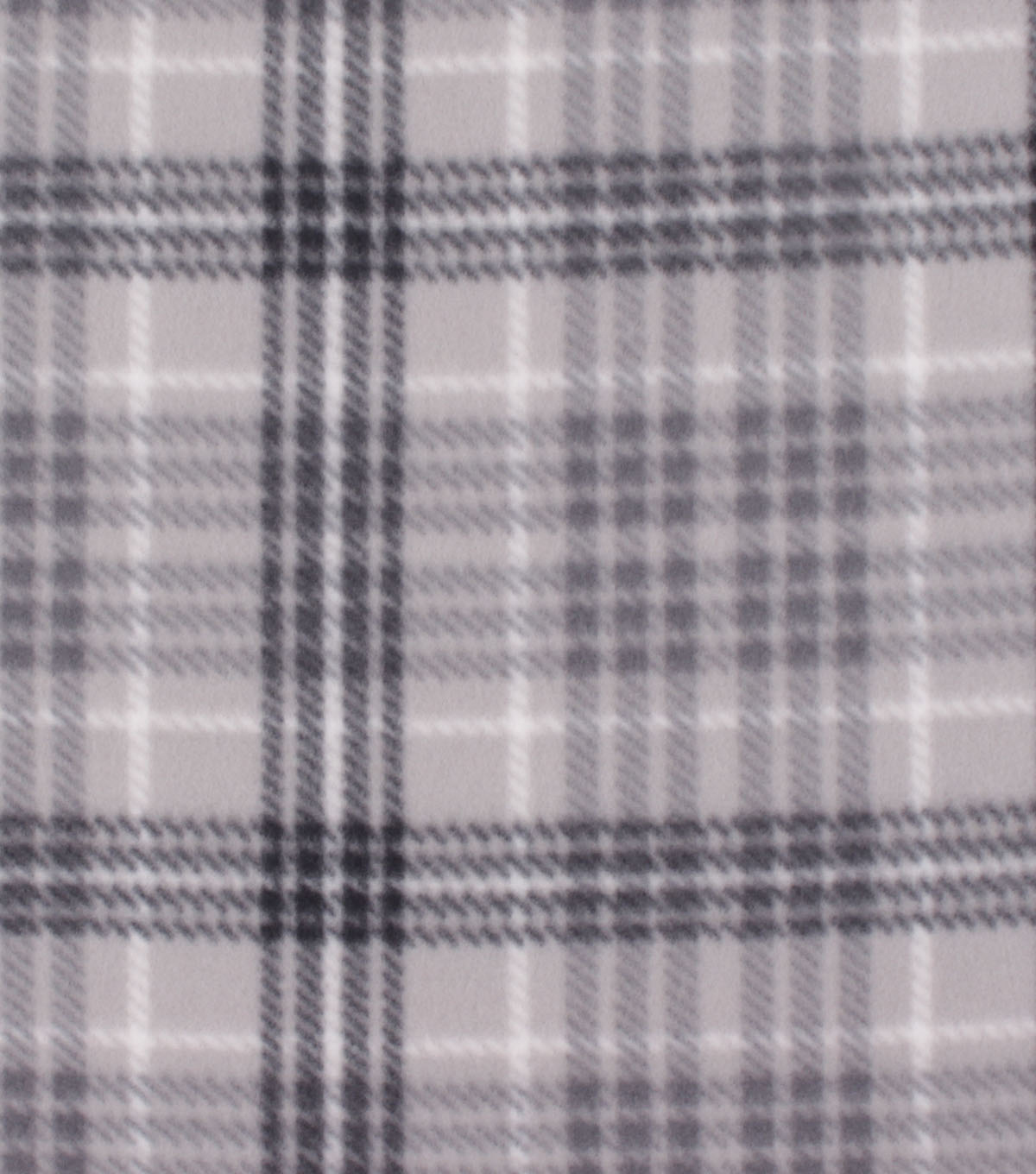 Blizzard Fleece Fabric-Madison Black & Gray Plaid