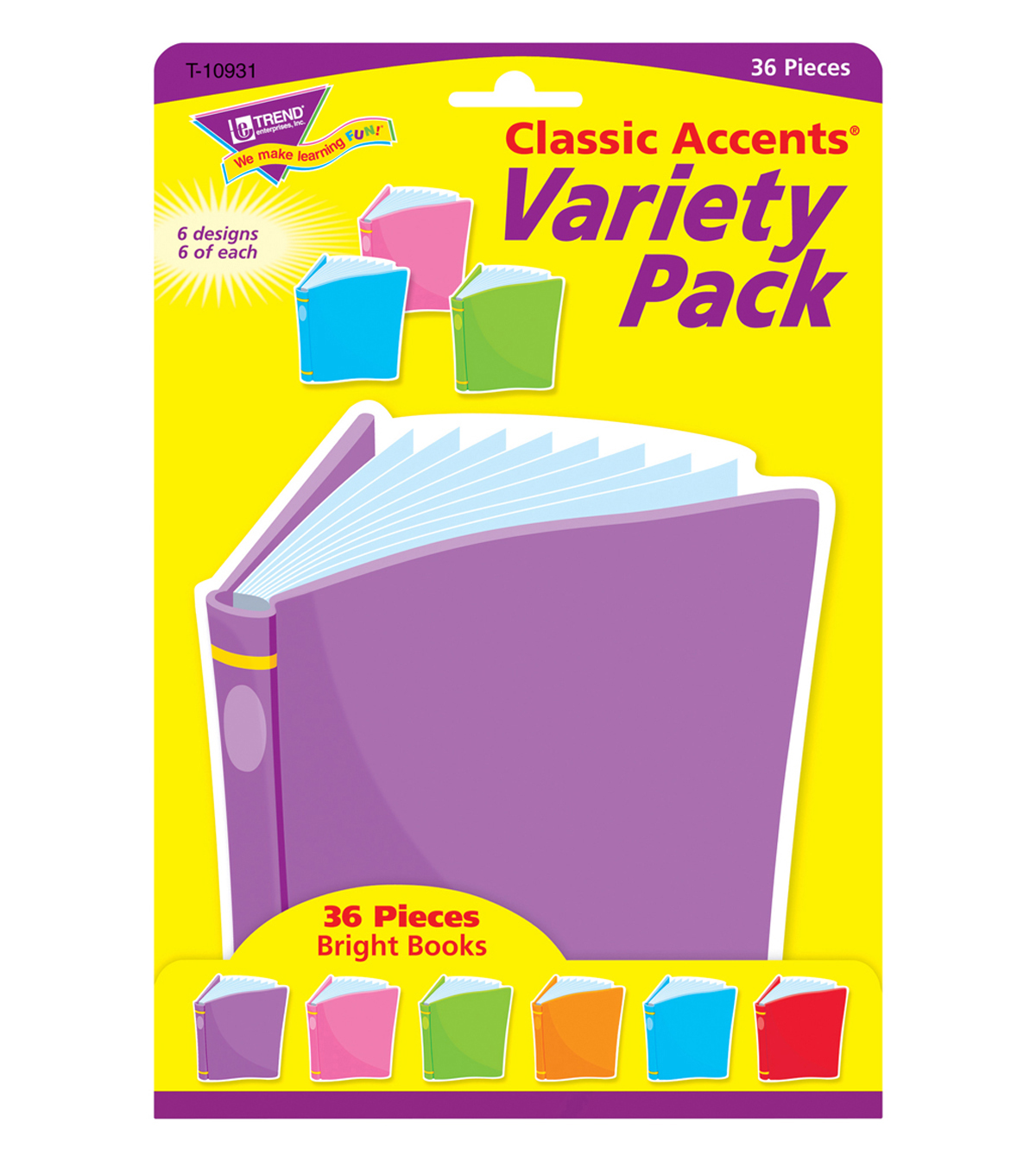 Bright Books Classic Accents Variety Pack, 36 Per Pack, 6 Packs