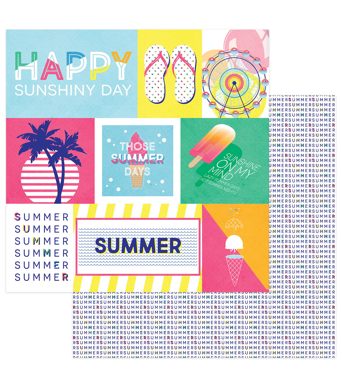 Photoplay Paper Those Summer Days 12\u0027\u0027x12\u0027\u0027 Cardstock-Chill Out
