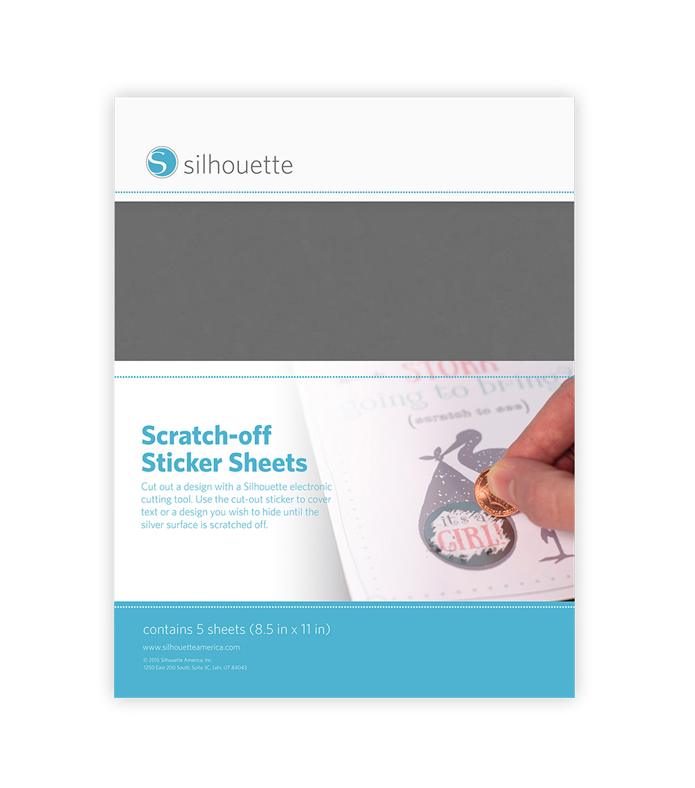Silhouette of America Printable Scratch-Off Sticker Sheets-Silver