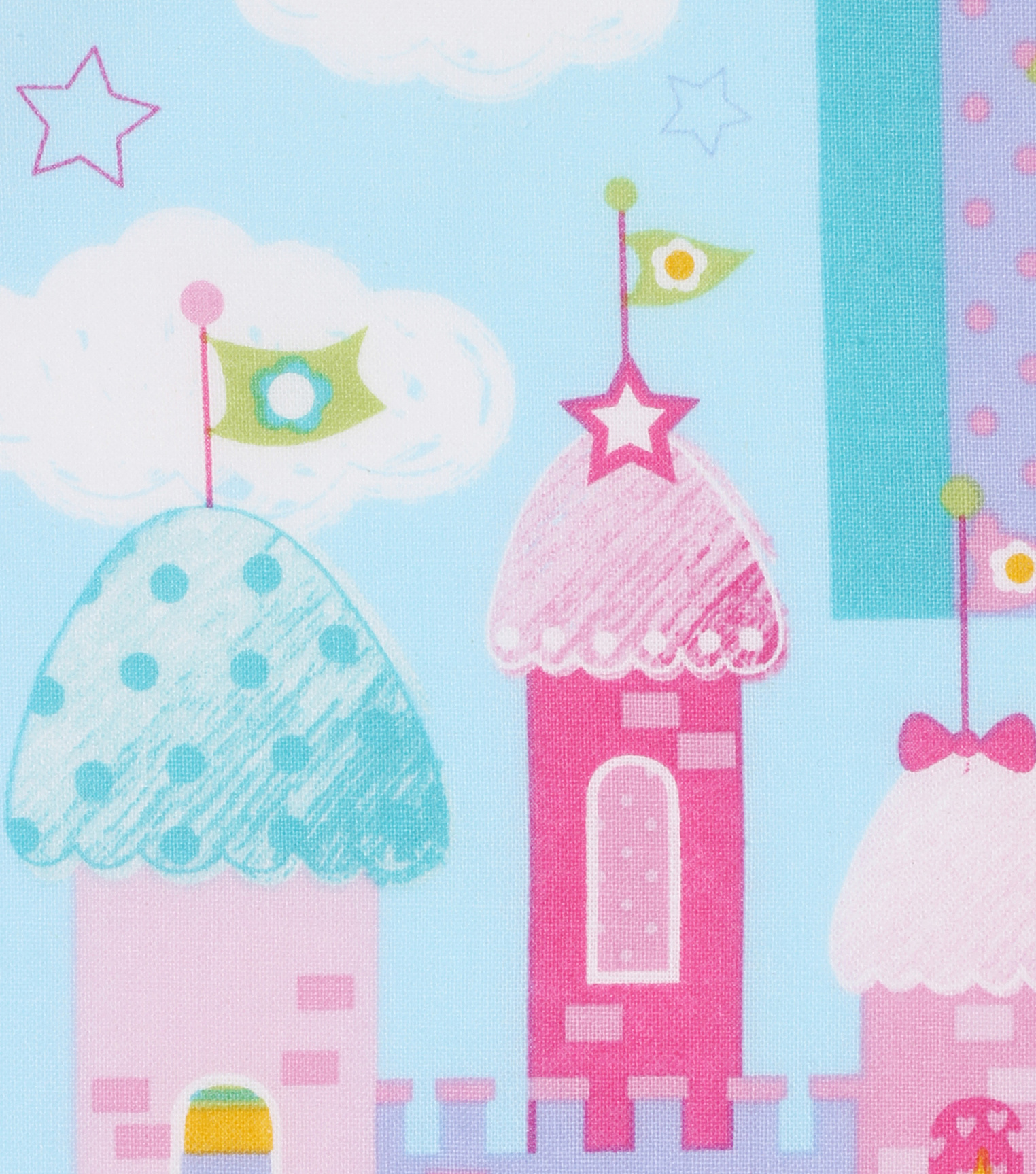 Novelty Cotton Fabric 43\u0022-Castles & Unicorns