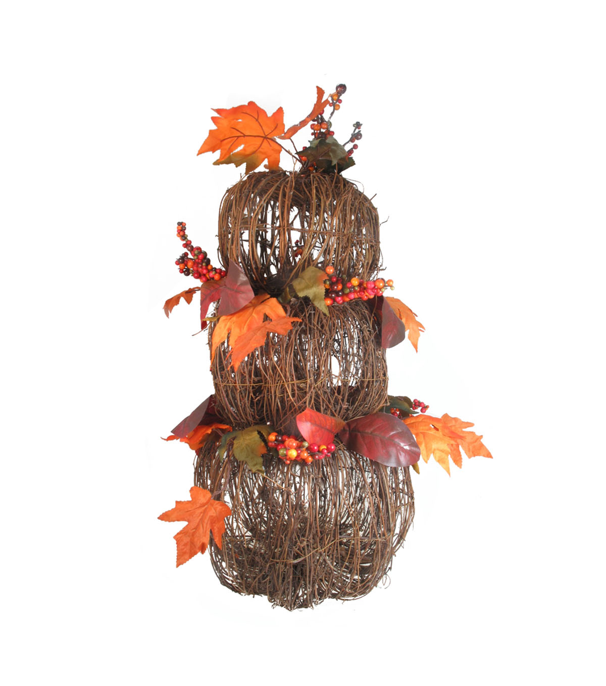 Simply Autumn Rattan 3 Stack Pumpkin Sitter