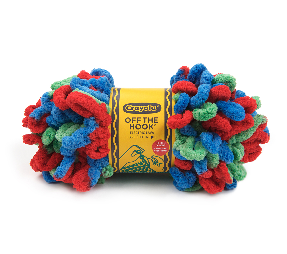 Crayola Off The Hook Yarn by Lion Brand Yarns, Electric Lava