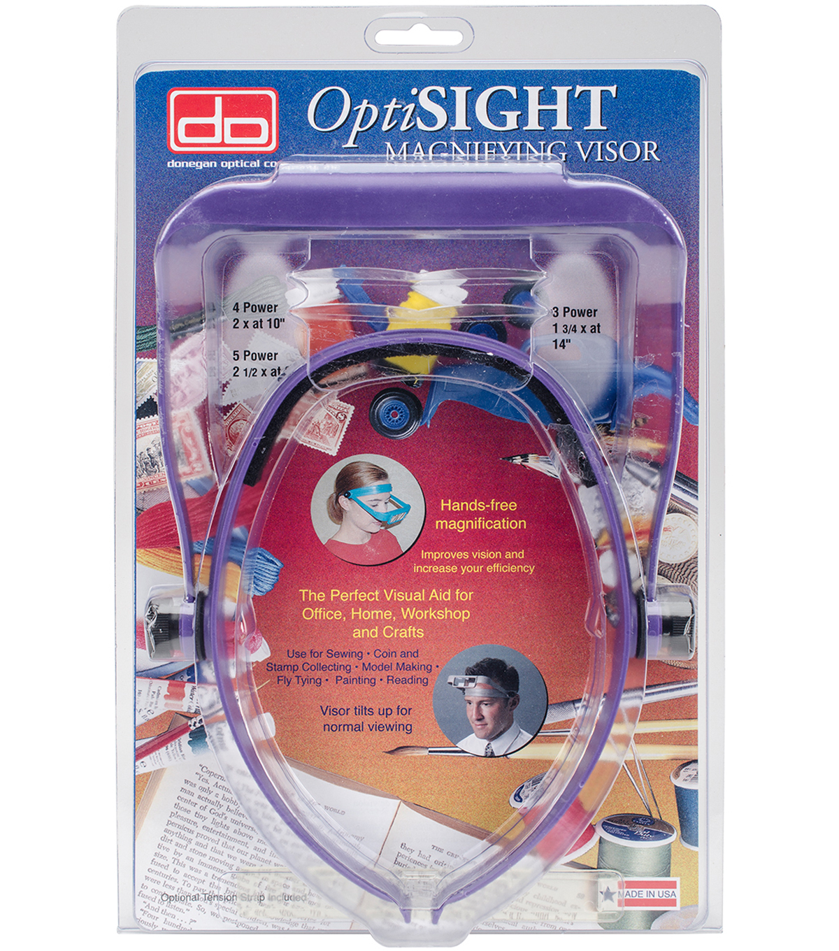 Donegan Optical Company OptiSIGHT Magnifying Visor-Deep Purple