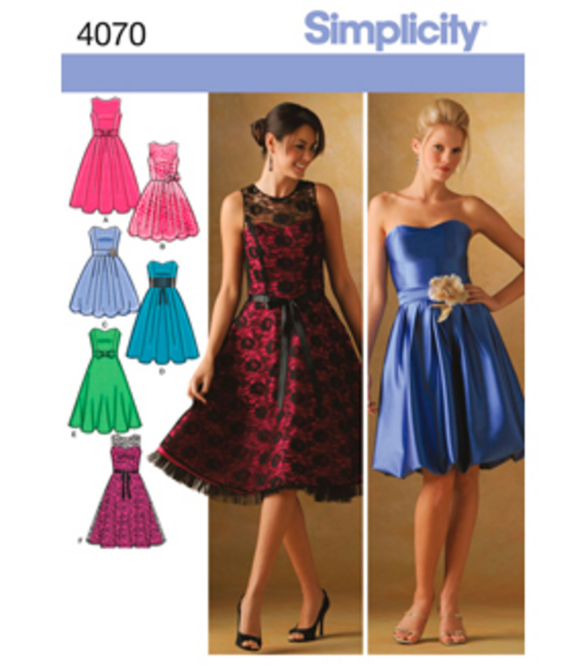 Simplicity Pattern 4070-Misses/Miss Petite Special Occasion-Sz 12-20 ...