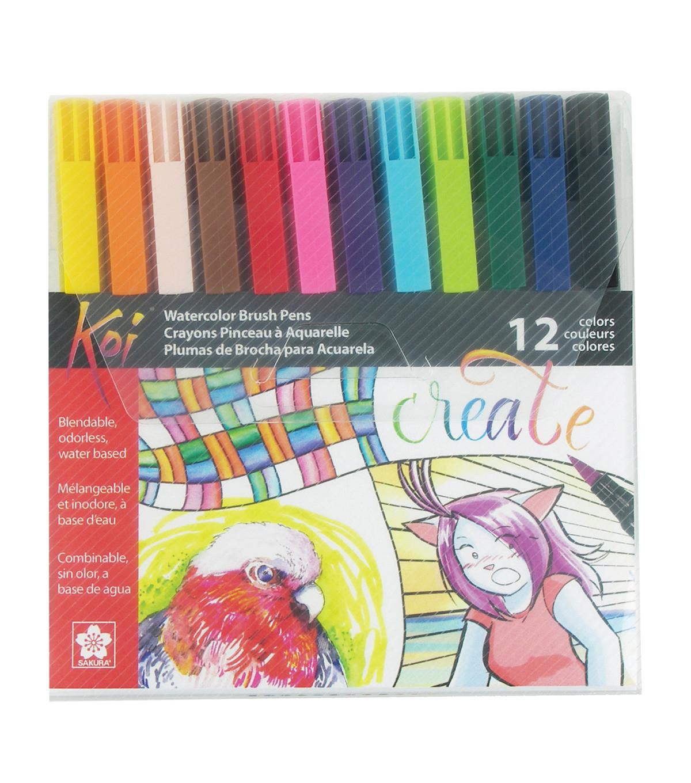 Koi 12 pk Coloring Brush Pens-Assorted