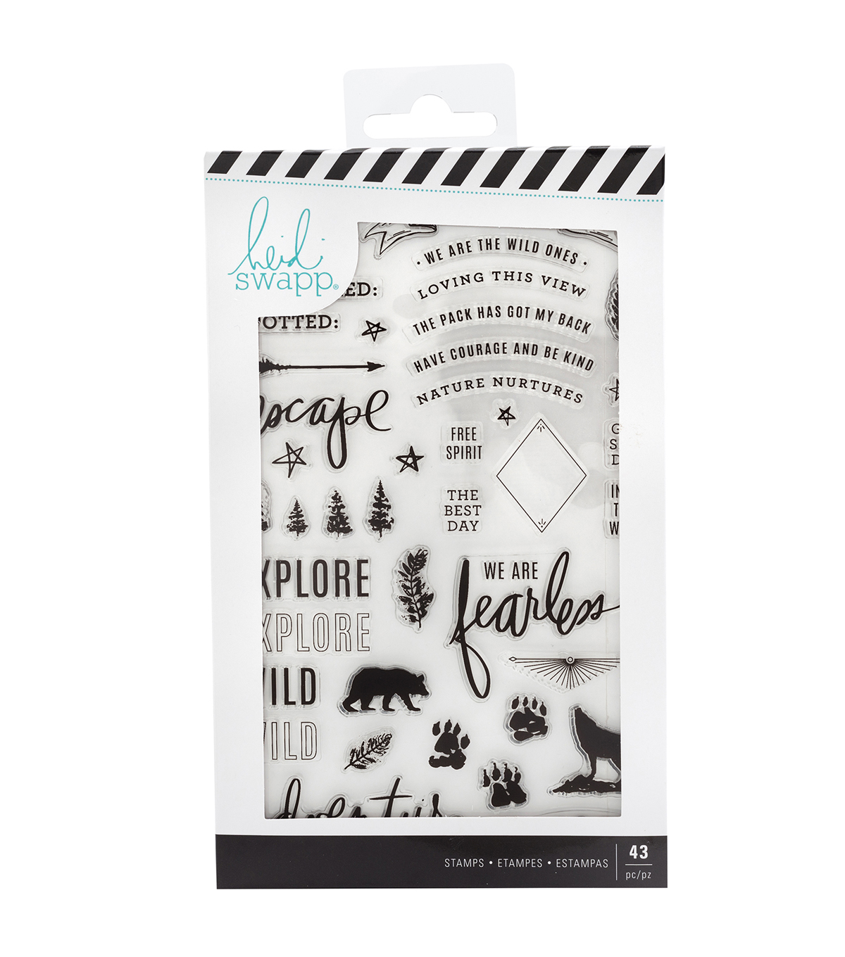 Heidi Swapp Wolf Pack Clear Stamps-Words