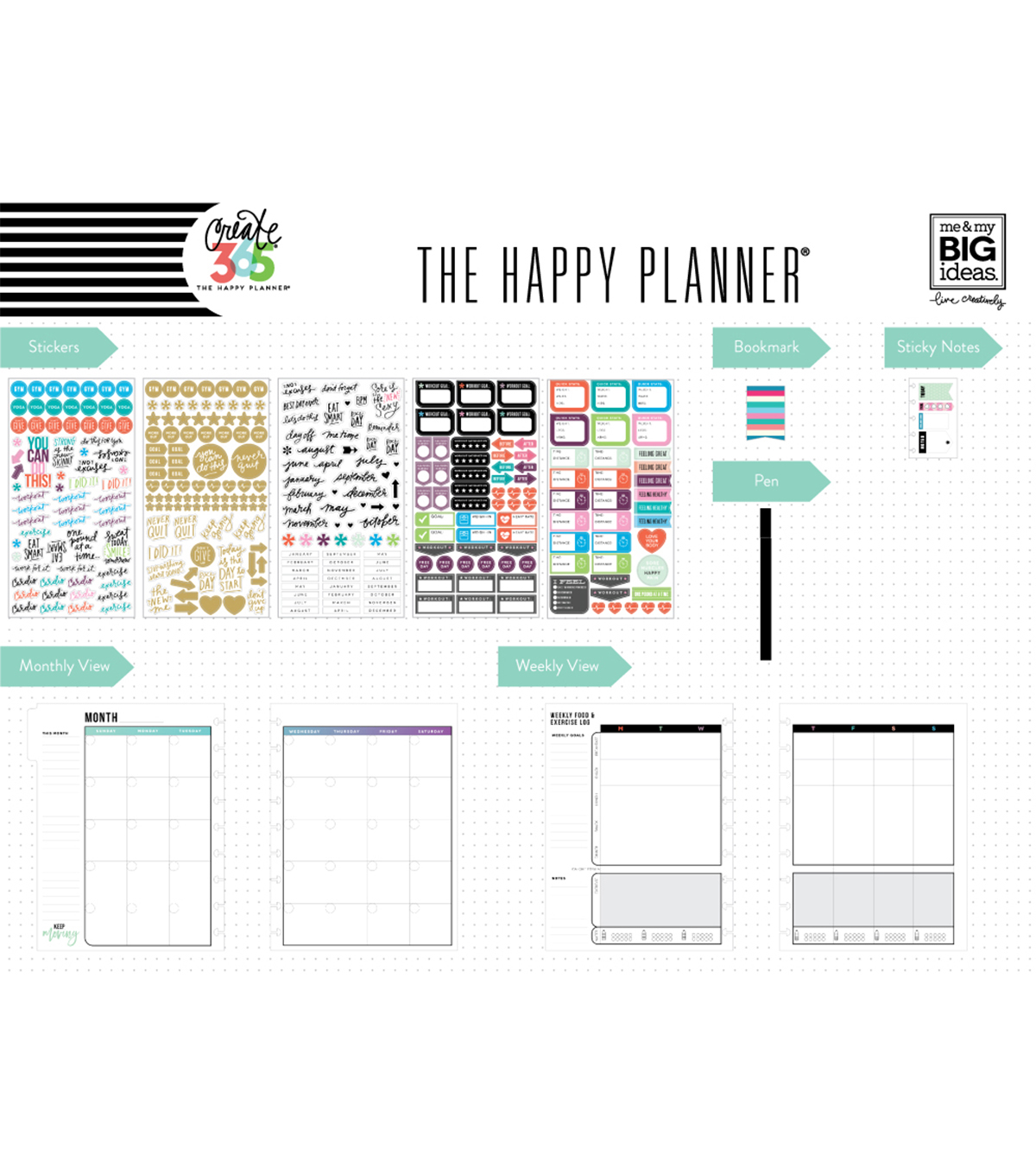 the happy planner classic planner box kit fitness joann