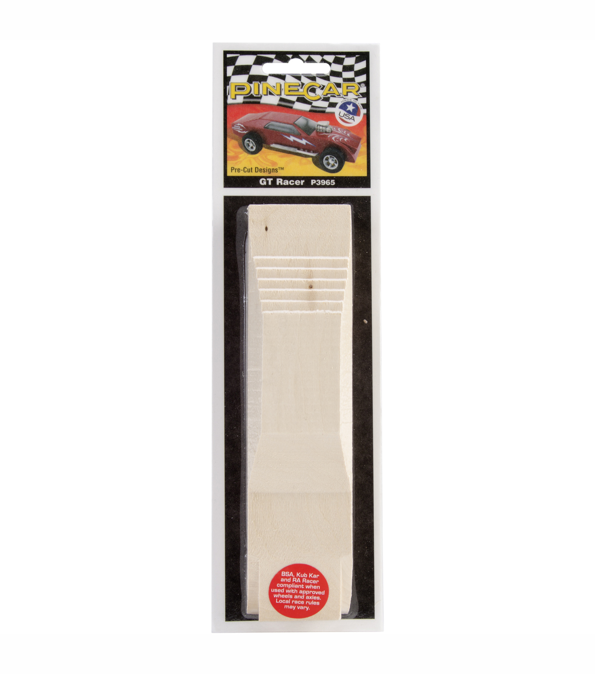 Pinewood Derby Pre-Cut Car-GT Racer