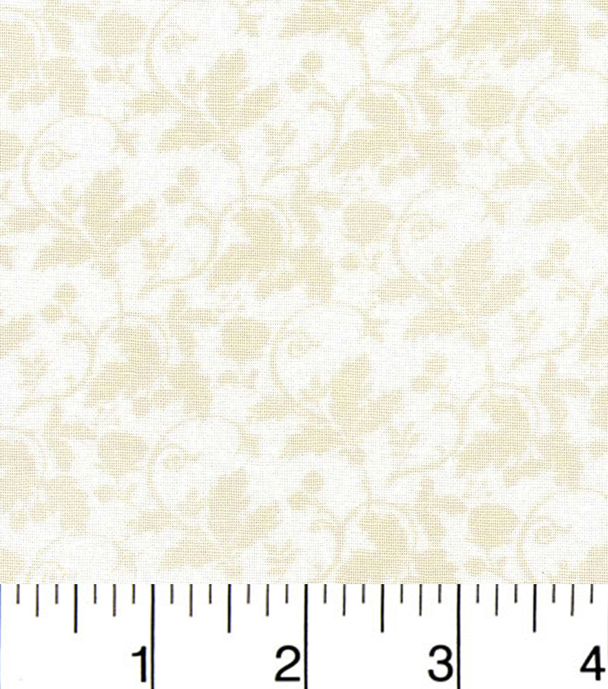 Harvest Cotton Fabric-Leaves And Vines On Tan