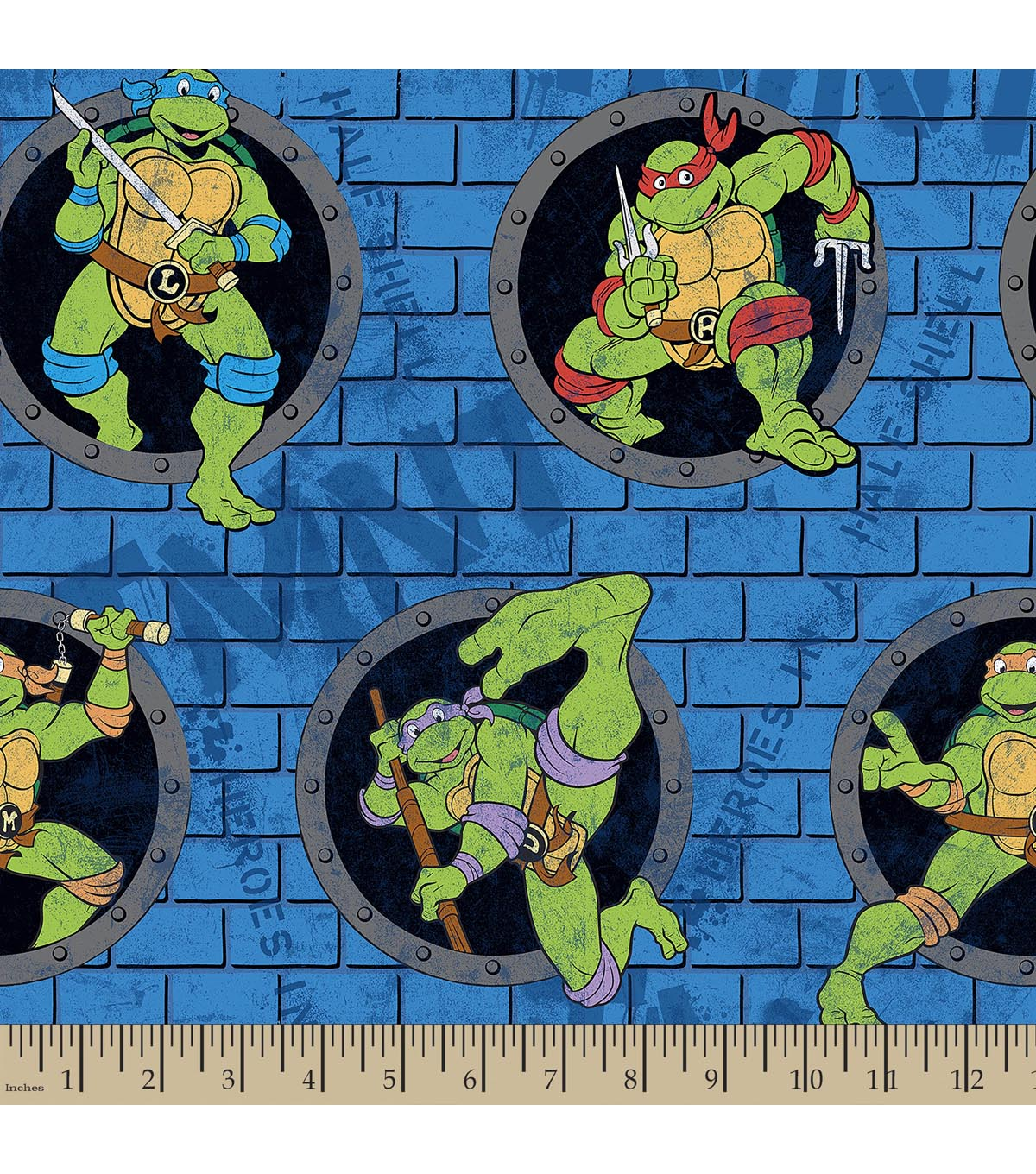 Teenage Mutant Ninja Turtles Print Fabric-Power Sewer Hole