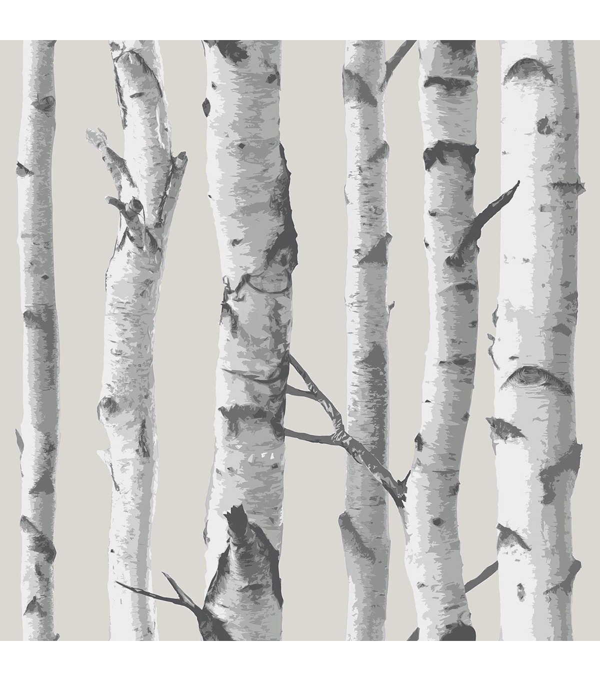 WallPops NuWallpaper Birch Tree Peel And Stick Wallpaper