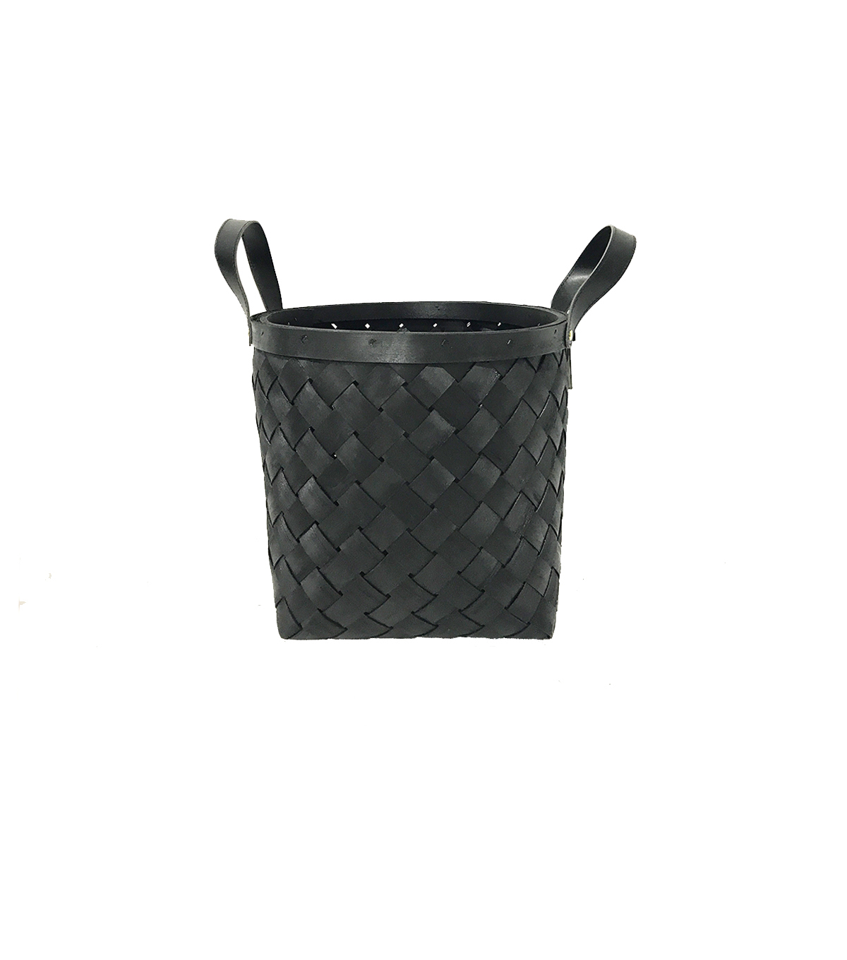 Black Wood Storage Basket Small