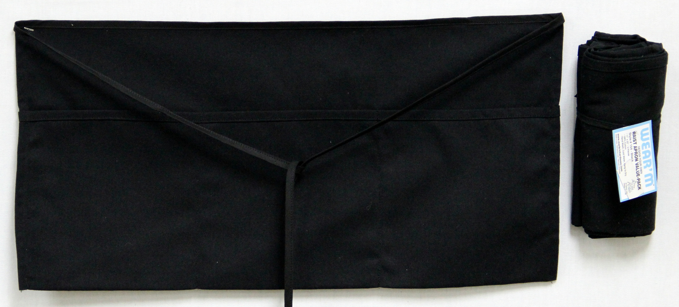 e009b9fcbf9b Wear'm Waist Apron Value Pack Black