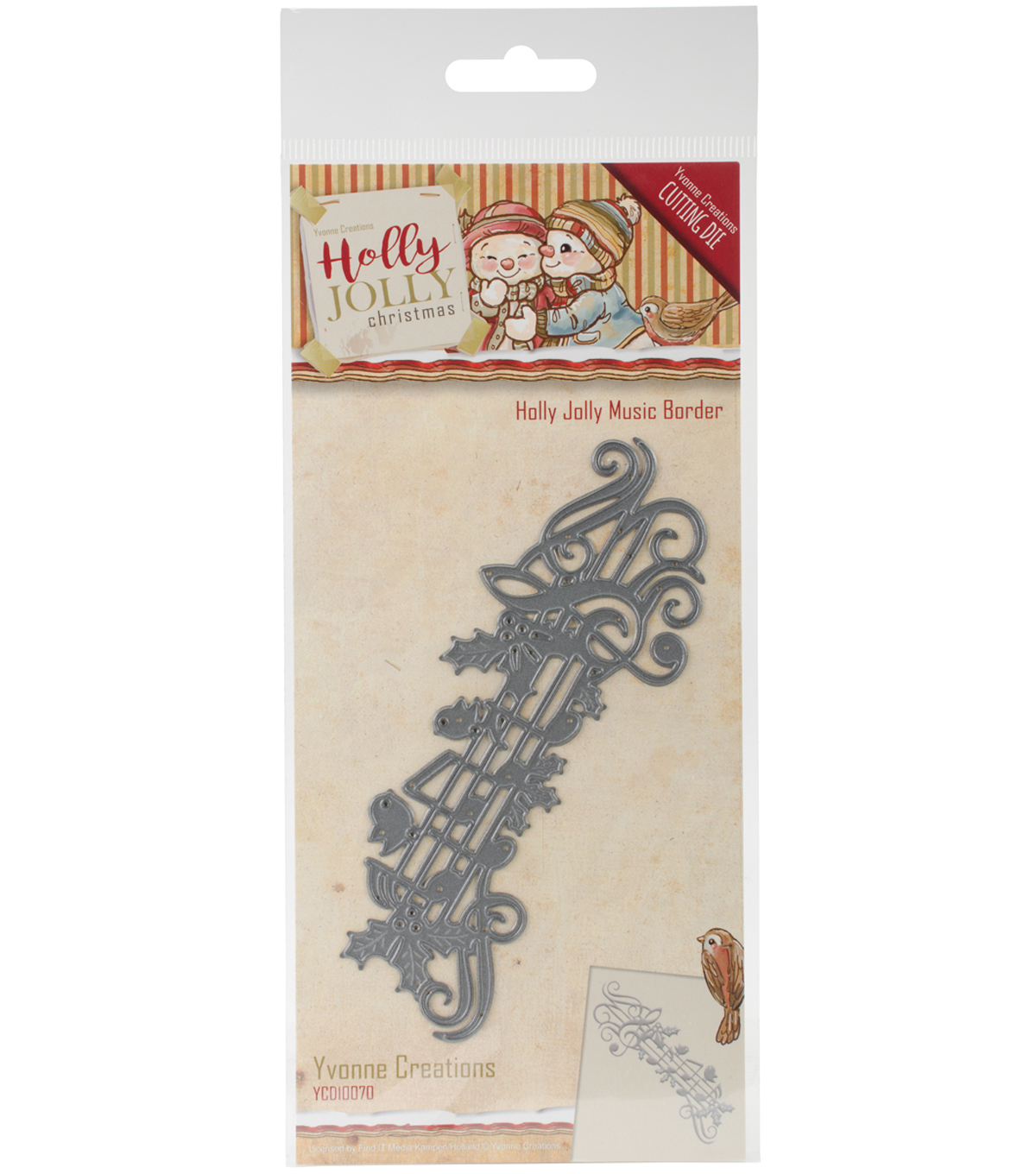 Find It Trading Yvonne Creations Holly Jolly Die-Music Border
