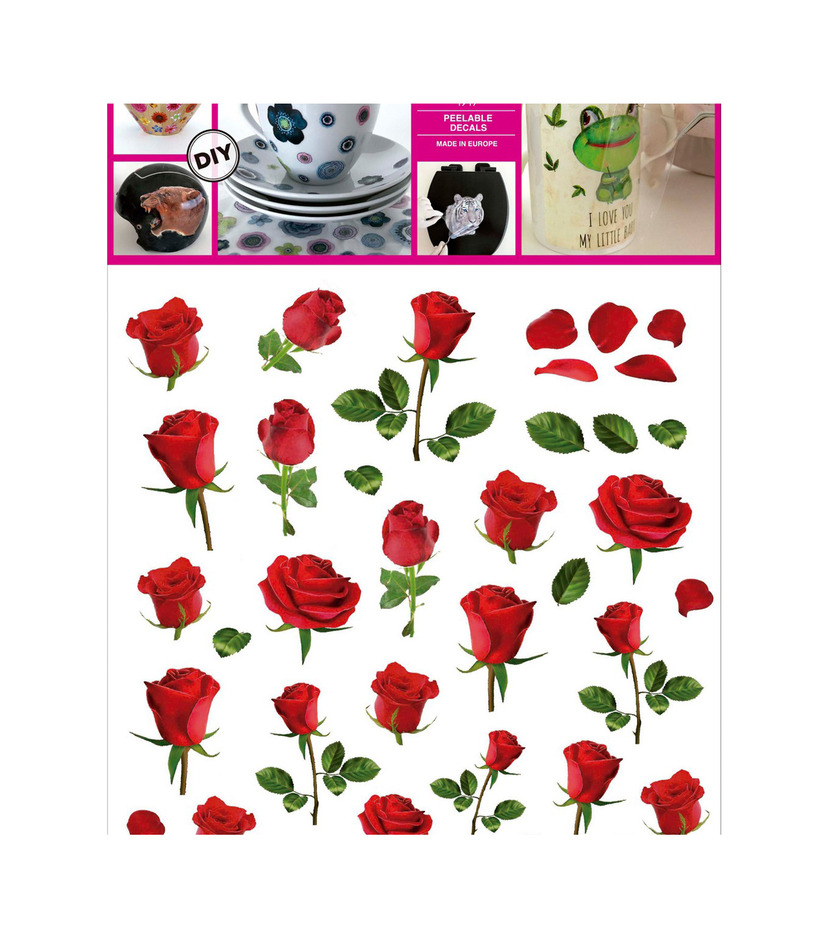 Decorprint DIY Peelable Decals-Smart Roses